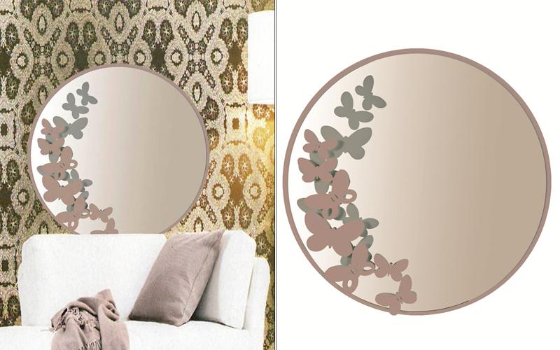 Specchio da parete butterfly tondo outlet del mobile - Specchio tondo da parete ...