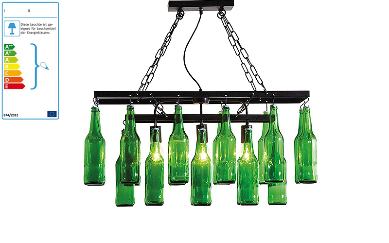 Lampadario: beer bottles - Outlet del mobile