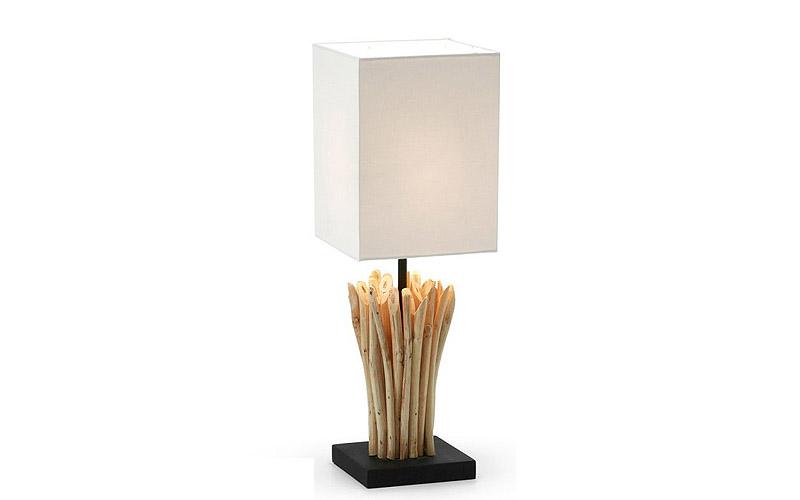 Lampada da tavolo in legno poob outlet del mobile - Lampade da tavolo in legno ...