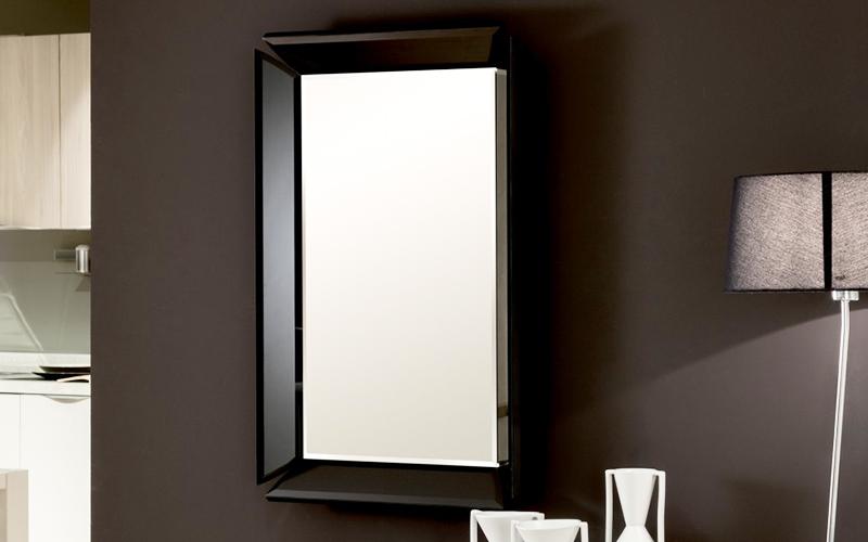 Specchio da parete con cornice plutone - Specchio cornice nera ...