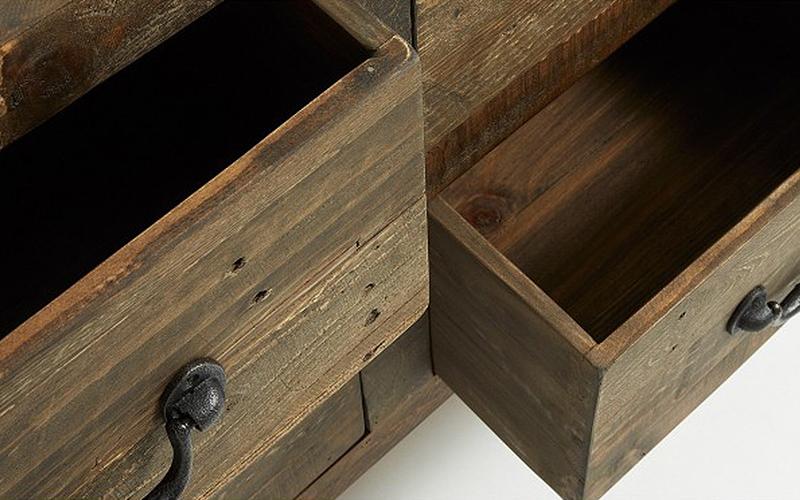 Madia in legno grezzo aog outlet del mobile - Tavolo legno grezzo ikea ...