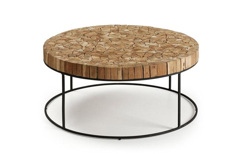 Tavolino in ferro e legno \