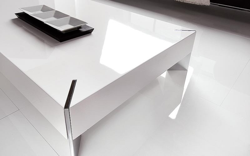 Tavolino da salotto pegasus outlet del mobile for Salotto bianco