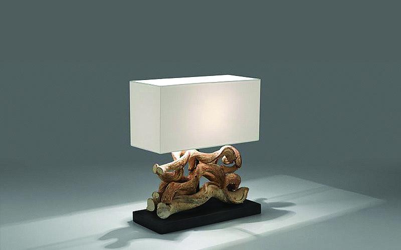 Lampada da tavolo etnica temoc outlet del mobile - Lampade da tavolo in legno ...