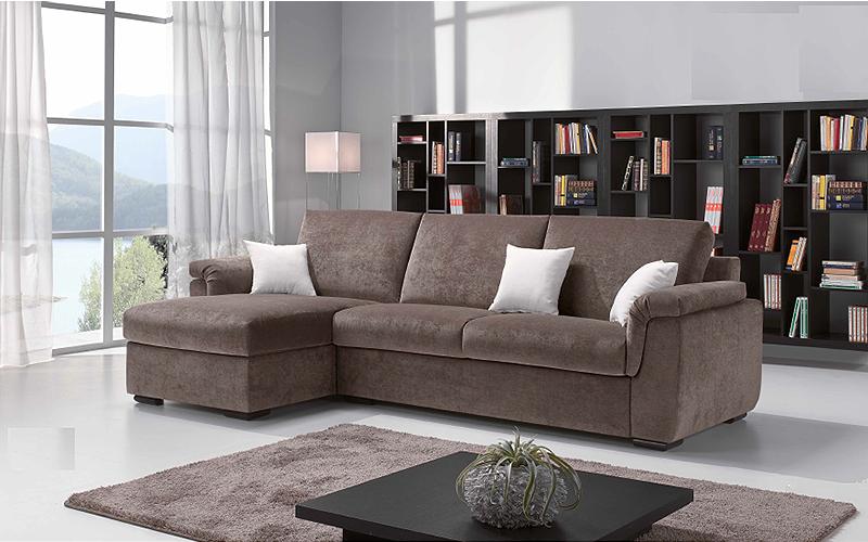 Divano con chaise longue sfoderabile mod charlie - Outlet del divano assago ...