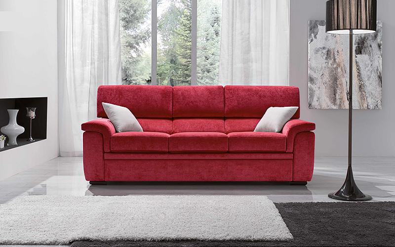 Divano moderno iris divano letto o fisso da 2 a 4 posti for Divano quattro posti