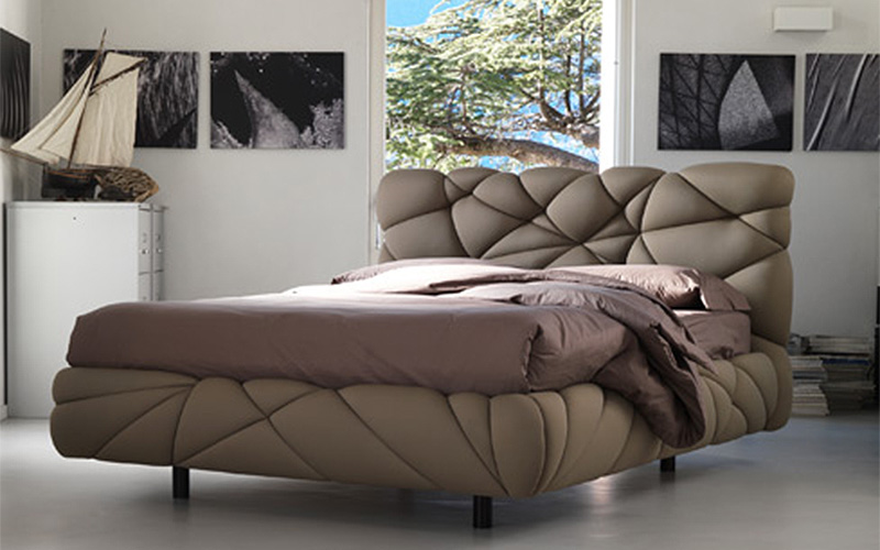 Letto Matrimoniale Design Outlet.Letto Matrimoniale In Lycra Marvin Outlet Del Mobile