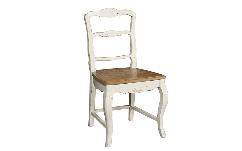 Decapé Chair: sedia in legno bianca e naturale | Outlet del Mobile
