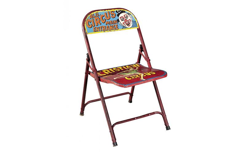 "Sedia in metallo dipinto ""Circus"""