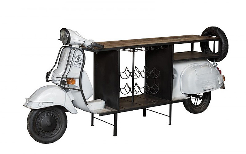 "Portabogglie stile urban/industrial ""Vespa Bar"""